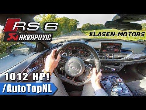 1012HP AUDI RS6 Klasen Motors AKRAPOVIC Exhaust POV Test Drive by AutoTopNL