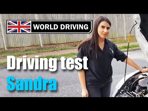 UK driving test (Sandra's test) - Learning to drive