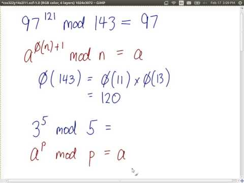 Eulers Theorem, Fermats Theorem and Discrete Logarithms (CSS322, L11, Y14)