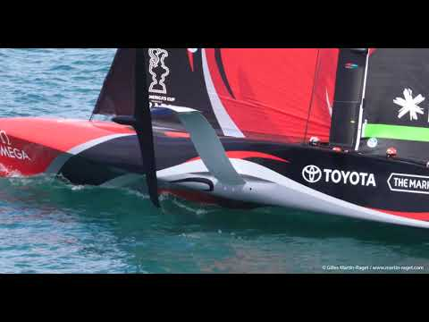 36th America's Cup - Auckland (NZL) - 2020/11/23 - Emirates Team New Zealand Light Wind Take off