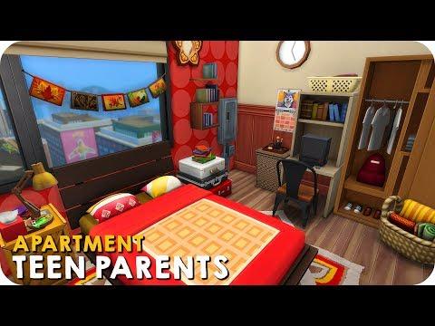 TEEN PARENTS APARTMENT   Sims 4 Speed Build