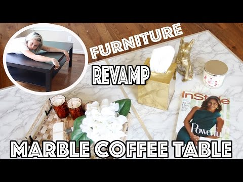 Diy Marble Coffee Table Affordable Easy