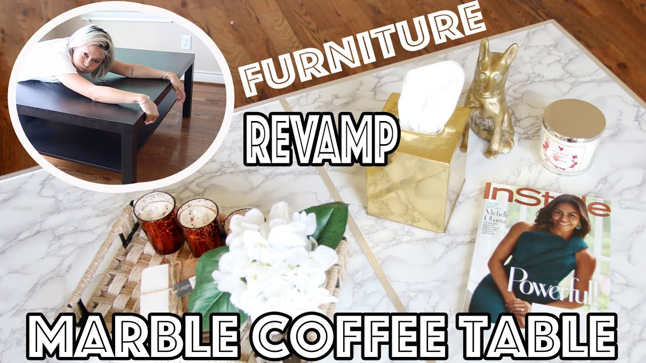 DIY Marble Coffee Table Affordable & Easy