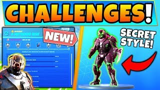 Fortnite METEORIC RISE CHALLENGES + SECRET SCIENTIST STYLE SKIN! (Landing Pod Location)