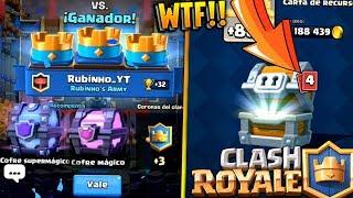 ME TOCA COFRE SUPERMAGICO & MAGICO + LEGENDARIA en COFRE de ORO!! | Clash Royale | Rubinho vlc