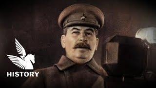 """【日本語字幕】スターリン演説 十月革命24周年記念演説 - Stalin Speech """"Total war over Nazis"""" at Lenin Mausoleum"""