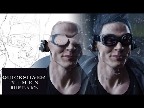 X-Men: Days of Future Past QUICKSILVER BEST SCENE Digital Drawing