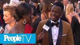Daniel Kaluuya Reveals Red Carpet Advice Black Panther Costar Chadwick Boseman Gave Him | PeopleTV