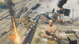 GTA 5 - Pedestrian Riot, Angry Planes, Meteors & More Chaos
