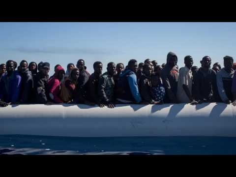 News Update Migrant crisis: Mediterranean rescue as 20 drown 24/05/17