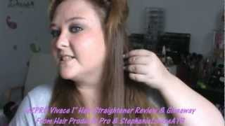 h2pro vivace 1 hair straightener review demo giveaway