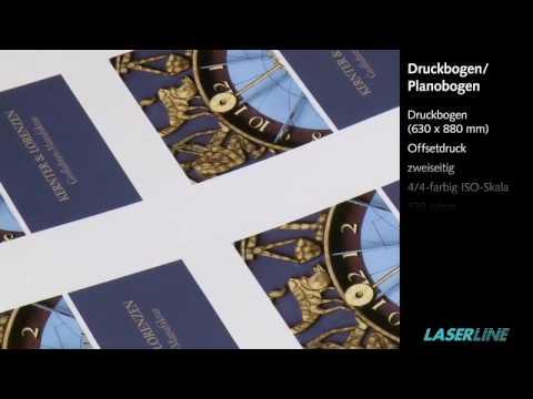 Druckbogen Druckerei Laserline