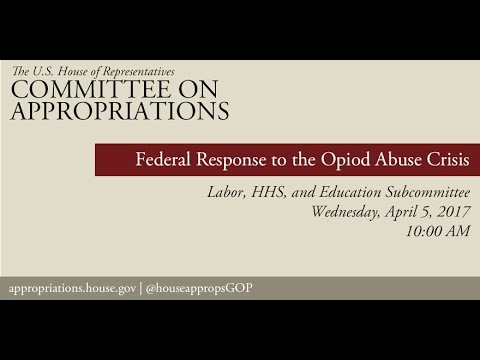 Hearing: Federal Response to the Opioid Abuse Crisis (EventID=105823)