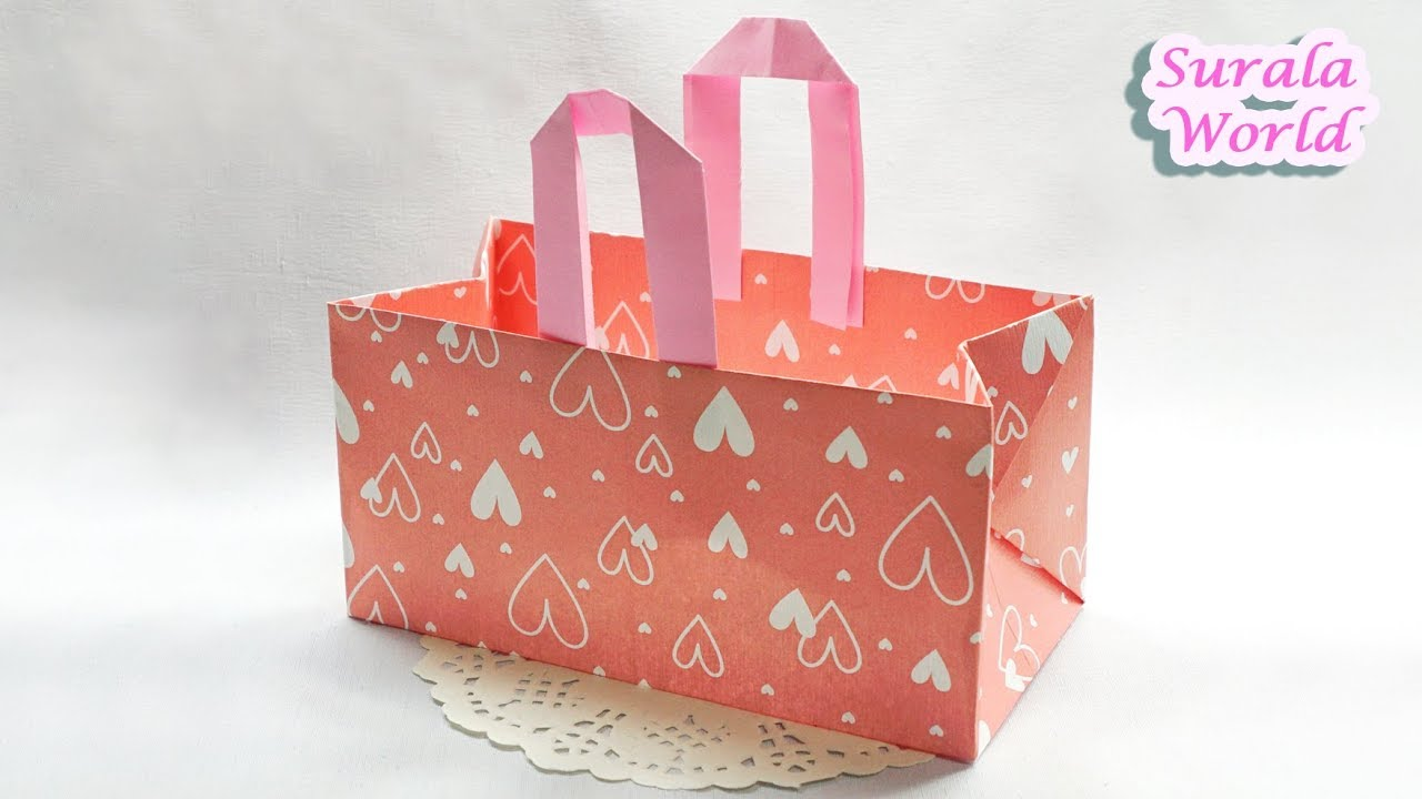 Origami Paper Bag Diy Wrapping