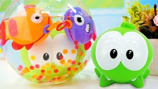 Om Nom goes fishing! Om Nom toy videos & Om Nom toy adventures