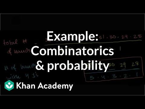 Example: Combinatorics and probability | Probability and combinatorics | Precalculus | Khan Academy