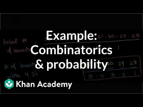 Example: Combinatorics and probability | Probability and combinatorics | Precalculus | Khan Academy