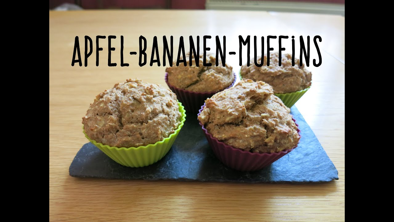 bananen apfel muffins baby led weaning gesund youtube. Black Bedroom Furniture Sets. Home Design Ideas