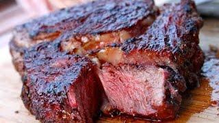 Seared Ribeye Steak Cast Iron