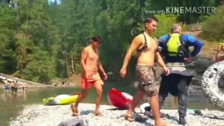 Son pranks mom, bees, kayaks, and river fun - Full time van life