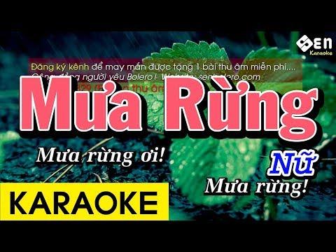 Mưa Rừng - Karaoke Beat Giọng Nữ