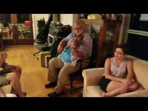 Mike V (mando) and David McKnight (fiddle)