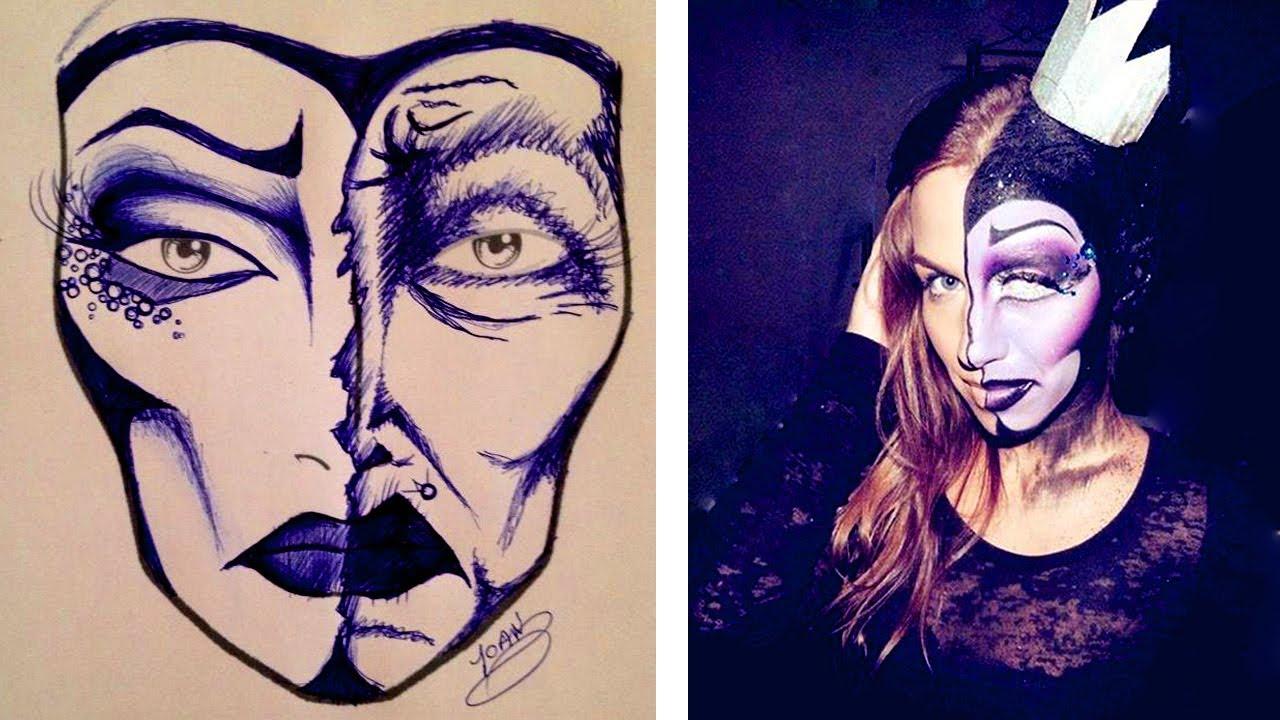Maquillage Halloween Sorcière Maléfique Youtube