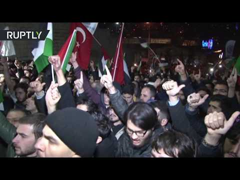 RAW: Hundreds protesting at US Consulate in Turkey over Trump's decision
