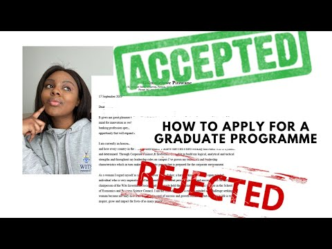 HOW TO APPLY FOR A GRADUATE PROGRAMME/JOB: cover letters, video interviews, psychometric tests