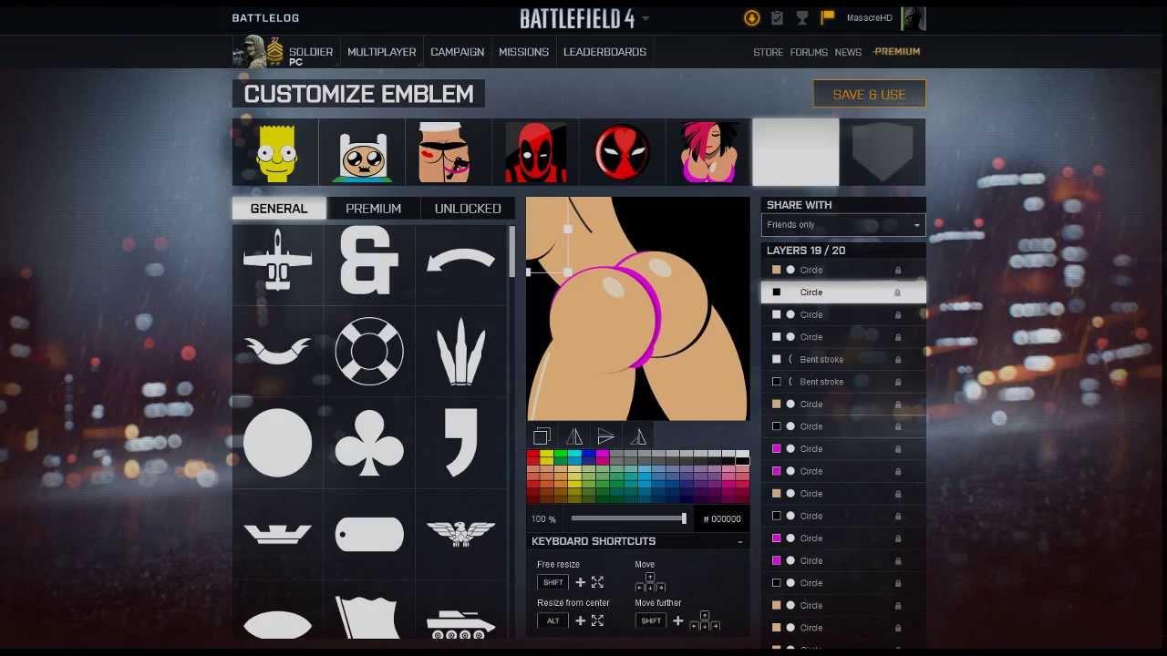 Sexy battlefield emblem