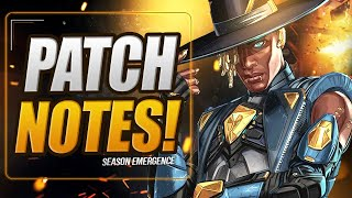 RECEBEMOS OS PATCH NOTES ANTECIPADOS DA SEASON 10! (Apex Legends: SEASON EMERGENCE)