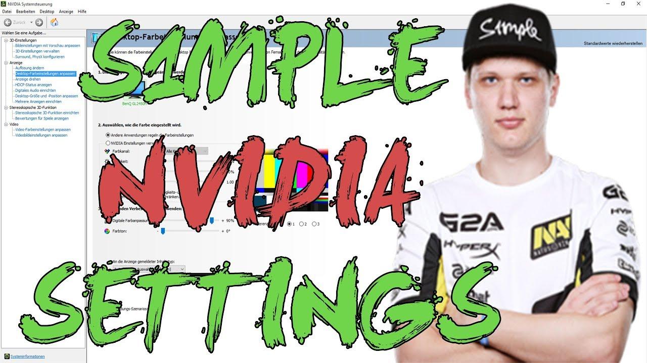 CSGO: Na'Vi s1mple NVIDIA settings
