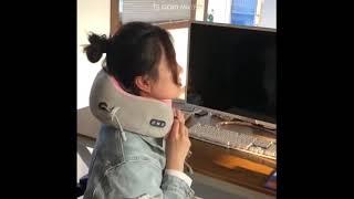 무선 휴대용 목마사지기 - 트루러비