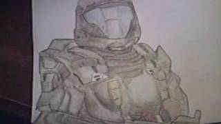"""Halo 3 ODST - My drawing of """"The Rookie"""""""