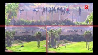 Willkommen in der EU! Golf spielen während Migranten um ihr Überleben kämpfen
