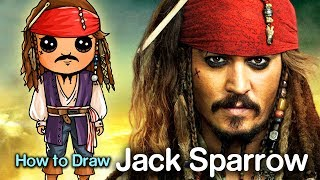 How to Draw Captain Jack Sparrow | Pirates of the Caribbean