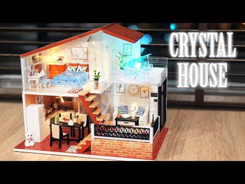 DIY Miniature Dollhouse Kit || Crystal House - Miniature Land