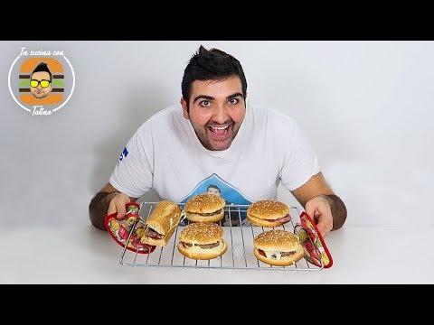 😋 PIZZA HAMBURGER SQUISITA - In cucina con Tatino   w/Fius Gamer & Enry Lazza