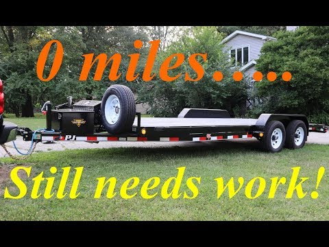 2019 PJ Equipment Trailer Winch Mount Fabrication,  LED Light Installation And Other Mods..