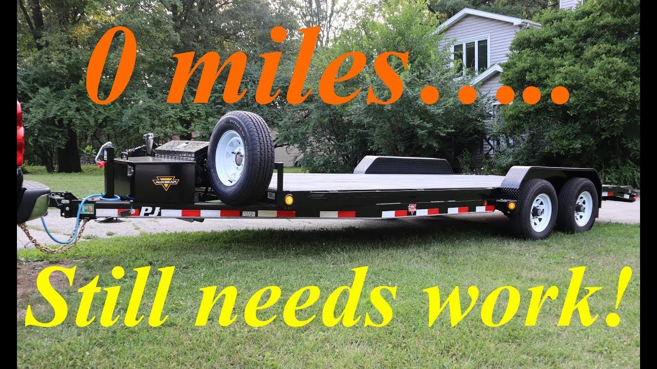 2019 PJ equipment trailer winch mount fabrication, LED light installation  and other mods