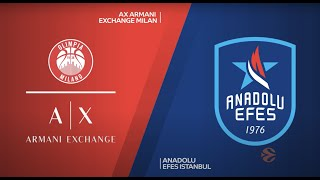 EuroLeague 34. Hafta: AX Armani Exchange Milan - Anadolu Efes