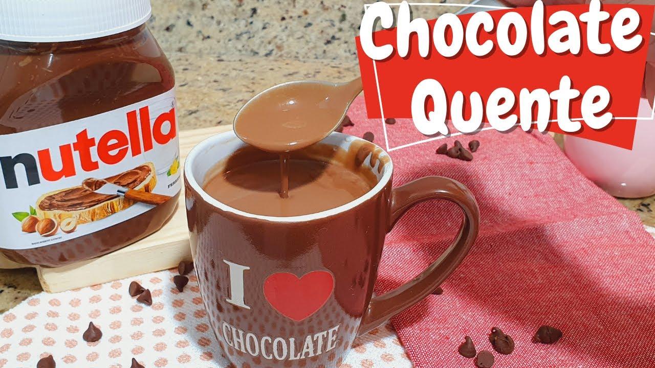 SEM AMIDO!! COMO FAZER CHOCOLATE QUENTE (CREMOSO) DE NUTELLA