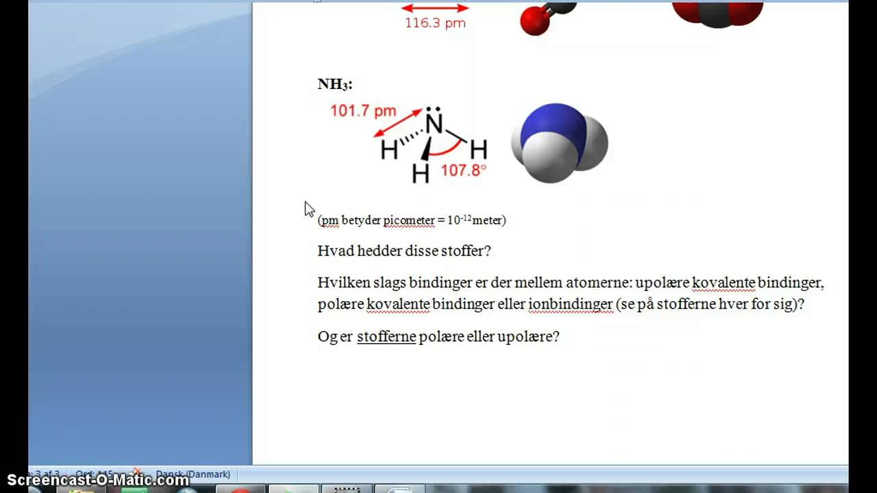 Molekyler og bindinger (ekstra video)