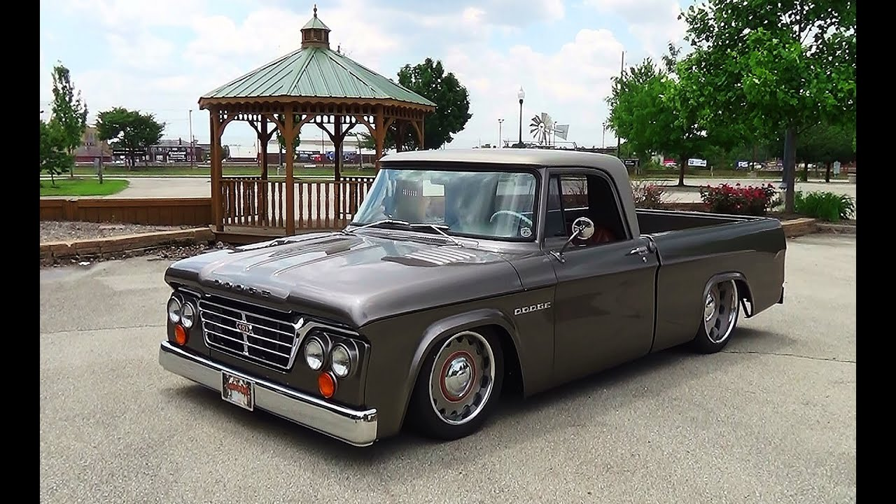 1965 Dodge D100 Sweptline Goodguy's Indy Nationals 2015 - YouTube