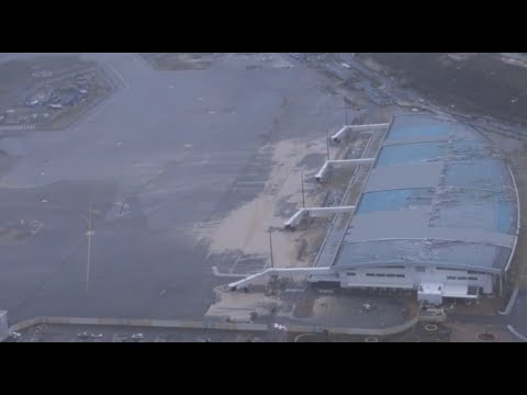 First Aerial footage of Princess Juliana Airport, Saint Martin