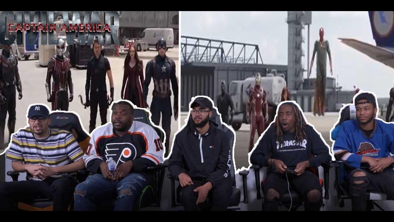 Download Captain America Civil War-Airport battle  Pt.1 REACTION