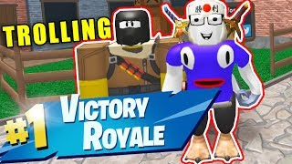 TROLLING FORTNITE PLAYER IN YOUTUBER 1V1 (ROBLOX MURDER MYSTERY 2)
