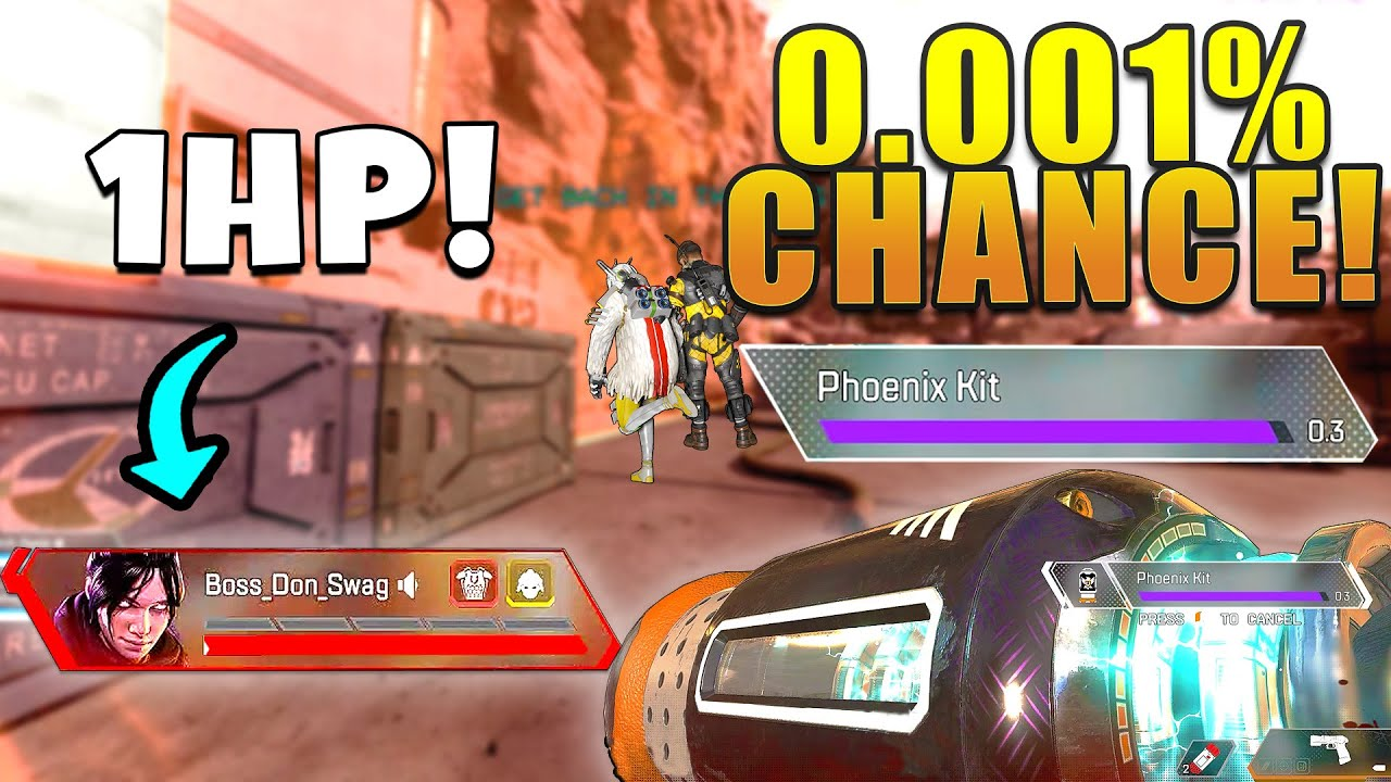 *NEW* IMPOSSIBLE PHOENIX KIT OUTPLAY!!! - NEW Apex Legends Funny & Epic Moments #458