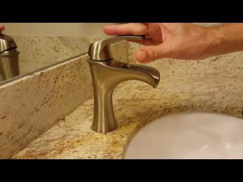 "Water Flow with Pfister F042JDKK Jaida Single Control 4"" Centerset Bathroom Faucet"
