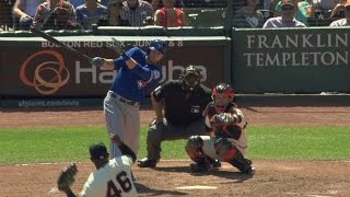 TOR@SF: Saunders ties the game late with a solo homer